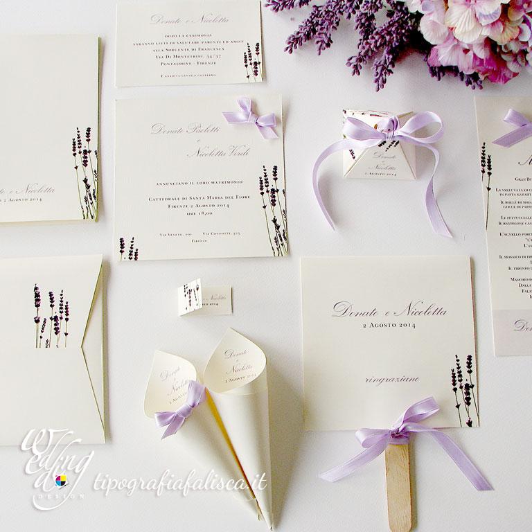 Top Lavanda - Coordinato Nozze Tipografia Falisca Wedding Design ZI88