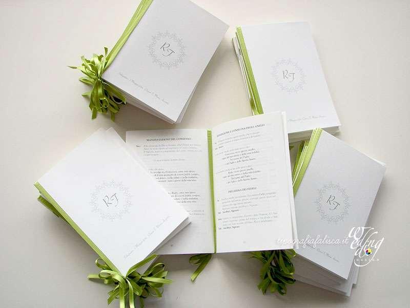 Libretti Messa Wedding Design Tipografia Falisca