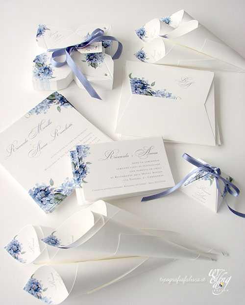 Wedding stationery i coordinati nozze scelti dagli sposi - Ortensia blu ...